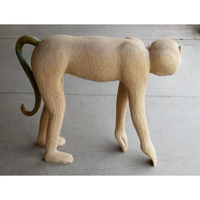 Large Modernist Monkey Sculpture, Manner of Lalanne - Image 4 of 6