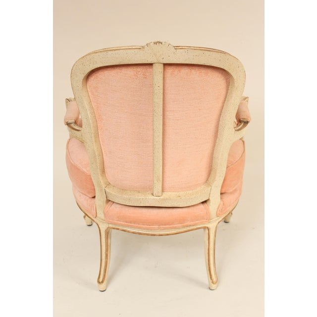 1980s Louis XV Style Painted Occasional Chairs - A Pair For Sale - Image 4 of 13