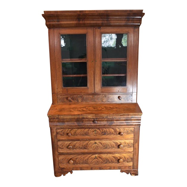 18th Century Antique Writing Cupboard For Sale