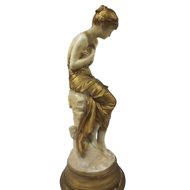 Gilt Classical Statue On Pedestal - Image 6 of 9