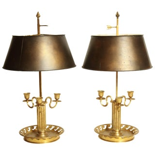 Pair of Louis XVI Bouillotte Lamps For Sale