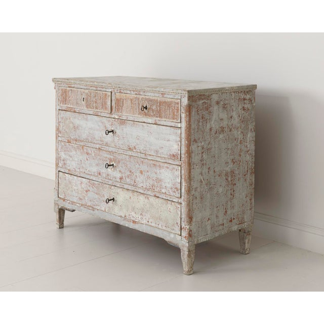 Paint 18th Century Swedish Gustavian Period Commode in Original Paint For Sale - Image 7 of 11