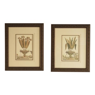 Floral Urn Decorative Framed Wall Arts - A Pair