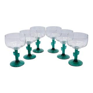Cactus Margarita Glasses - Set of 6 For Sale