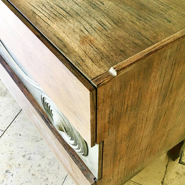 1950s Swedish Six Drawer Walnut Cabinet by Edmond Spence 1950s For Sale - Image 5 of 7