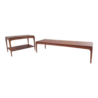 Mid Century Lane Rhythm Coffee Table & Side End Table For Sale