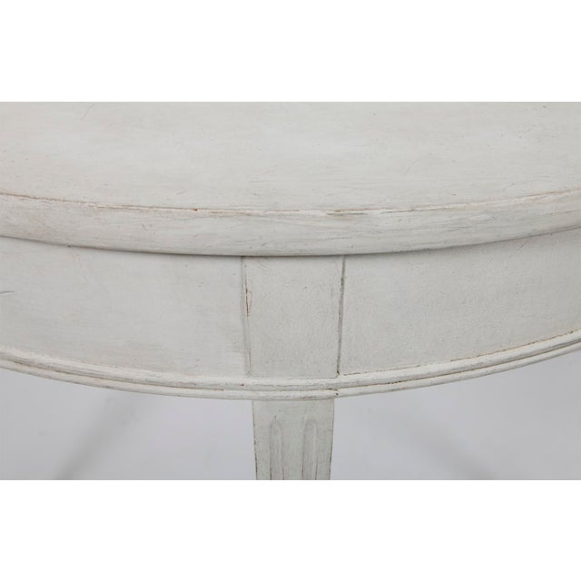 Traditional 20th Century Gustavian Demi Lune Table For Sale - Image 3 of 6
