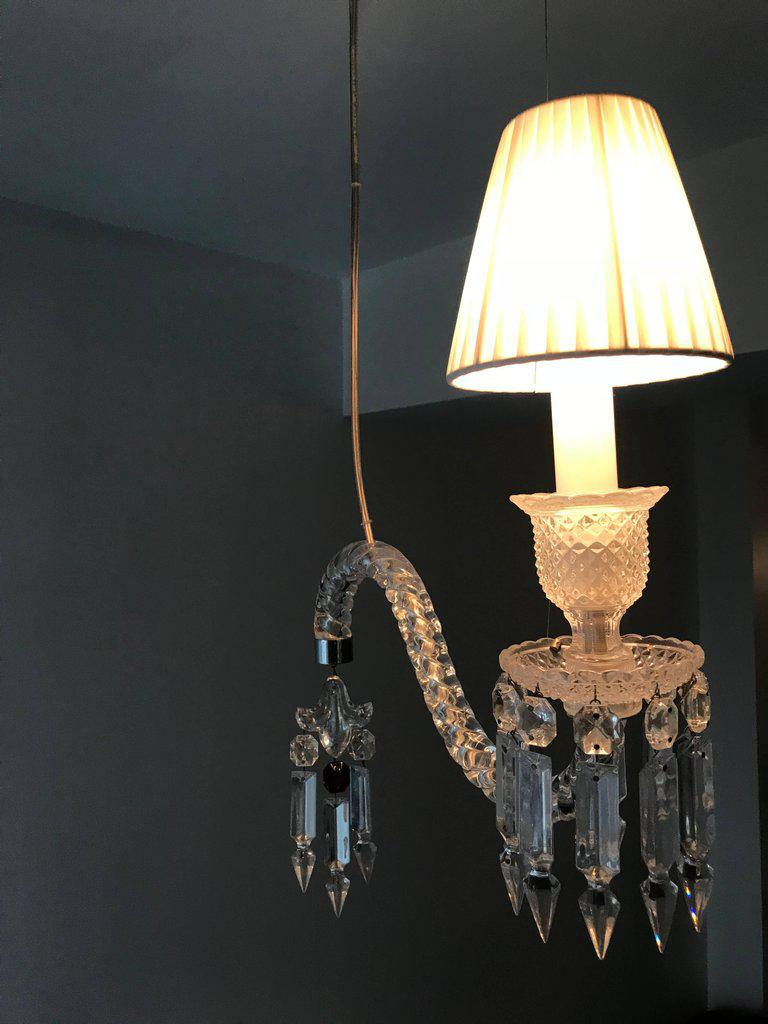 Pair of baccarat crystal fantome hanging sconces image 6 of 8