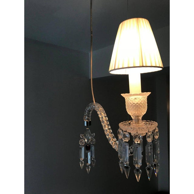 Pair of Baccarat Crystal Fantome Hanging Sconces For Sale In Philadelphia - Image 6 of 8