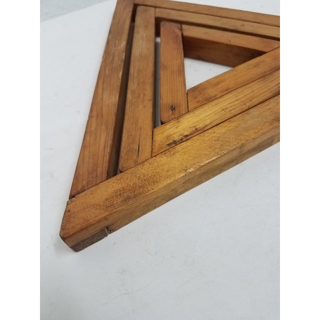 Antique English Wooden Triangular Trivets For Sale - Image 4 of 8