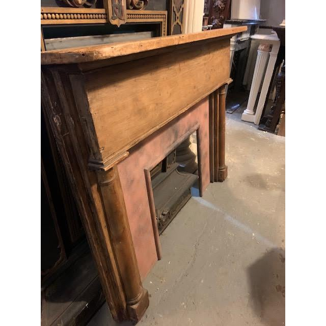 Country Stripped Pine Mantel For Sale In New York - Image 6 of 7