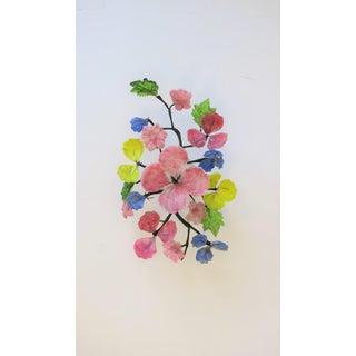 Midcentury Italian Art Glass Floral Arrangment Sculpture Piece Preview