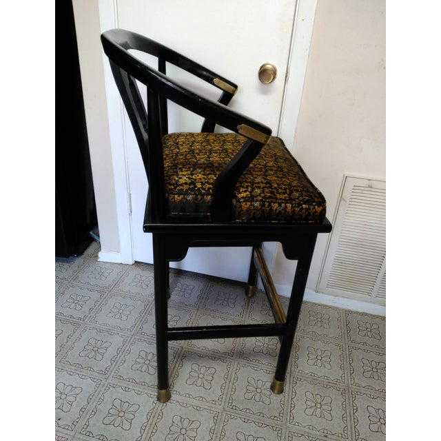 Century Chair Company Hickory Gold & Black Bar Counter Stools - A Pair - Image 5 of 11