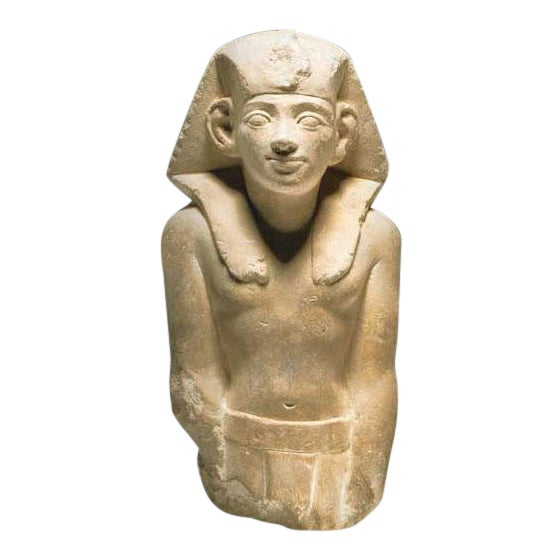 Ptolemaic Period Sandstone Sculpture of a King For Sale