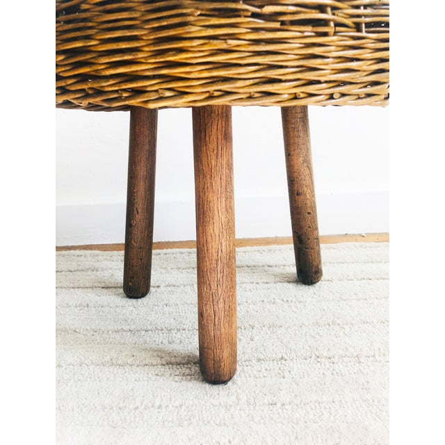 Tony Paul Vintage Tony Paul Wicker Stool For Sale - Image 4 of 10