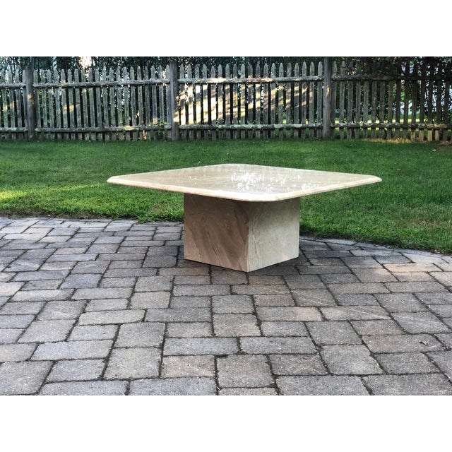Art Deco Italian Travertine Coffee Table For Sale In Boston - Image 6 of 13
