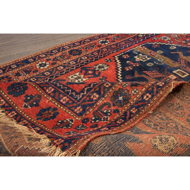 "Vintage Hand-Knotted Persian Rug - 4' X 7'3"" - Image 3 of 4"