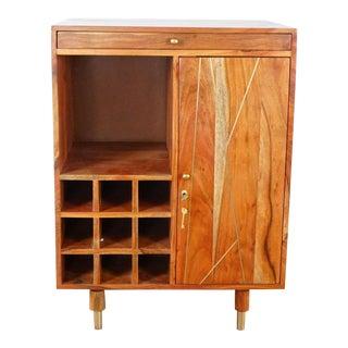 Monterey Crafts Design Irang Bar Cabinet For Sale