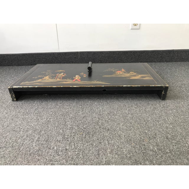 Vintage Antique Asian Japanese Scriban Desk Wall Mounted For Sale - Image 11 of 13