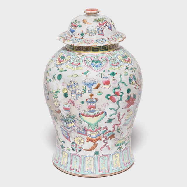 Ceramic Chinese Famille Rose Porcelain Baluster Jar For Sale - Image 7 of 7