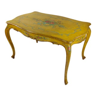 19th Century Venetian Painted Salon Table For Sale