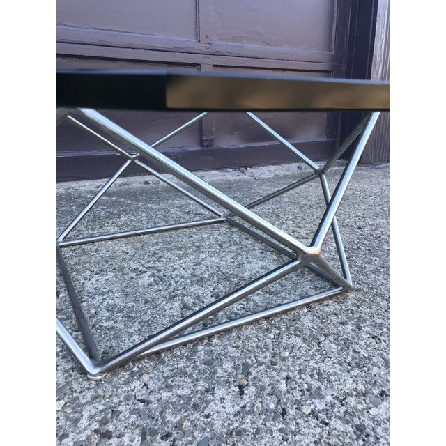 Milo Baughman Sculptural Bronze Coffee Table Directional Furniture For Sale In New York - Image 6 of 13