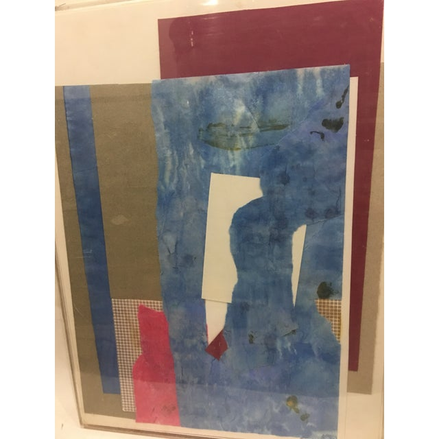 1980s 1983 Abstract Collage Signed Mitzi Levin For Sale - Image 5 of 10