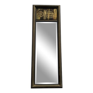 1970s Bernhard Rohne for Mastercraft Etched Brass Mirror For Sale