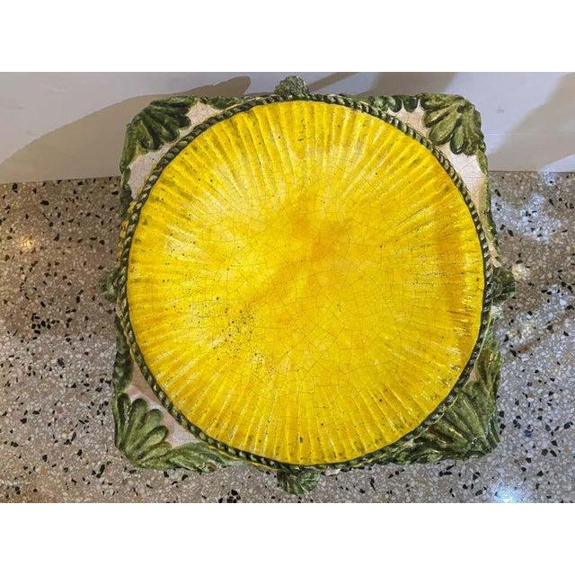 Garden Stool Italian Crackle Glazed Hand Painted Terracotta 1920s-30s For Sale - Image 4 of 13