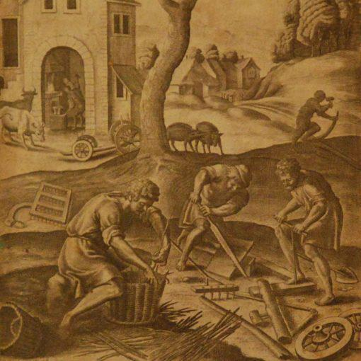 17th Century Engraving by Wenceslaus Hollar, 1607-1677 W. Hollar 1607-1677, Bohemian born etcher, his family was ruined...
