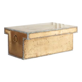 Vintage Brass Coffee Table by Sarried For Sale