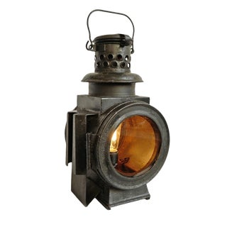Vintage Railway Table Lamp For Sale