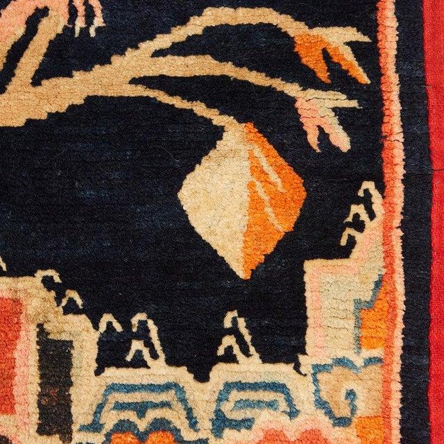 1910s Antique Tibetan Woolen Saddle Blanket For Sale - Image 5 of 6