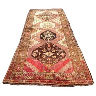 Vintage Anatolian Rug - 5′3″ × 13′4″ For Sale