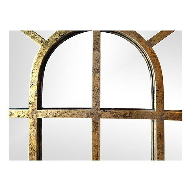 Gilt Finish Arched Metal Mirror - Pair - Image 2 of 7