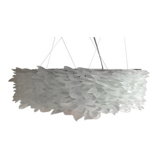 Emee Frosted Glass Chandelier For Sale