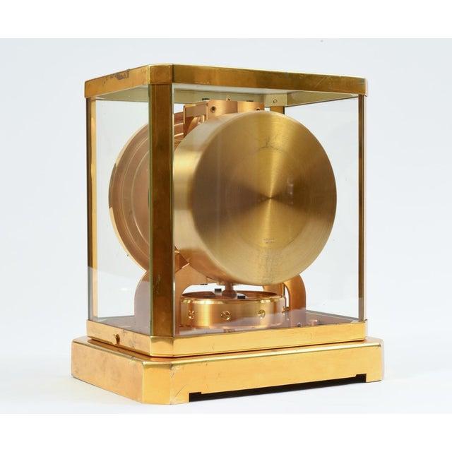 Case Glass Brass Jaeger Le Coultre Mantel Desk Clock For Sale - Image 11 of 13