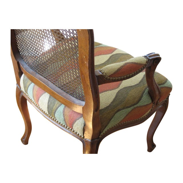 Louis Style Carved Walnut Armchair For Sale - Image 4 of 5
