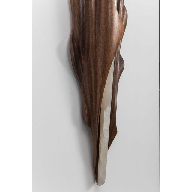 2010s Markus Haase, Black Walnut Single Wrapped Sconce, Usa, 2016 For Sale - Image 5 of 6