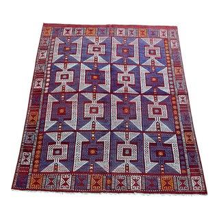 Vintage Turkish Kilim Wool Rug For Sale