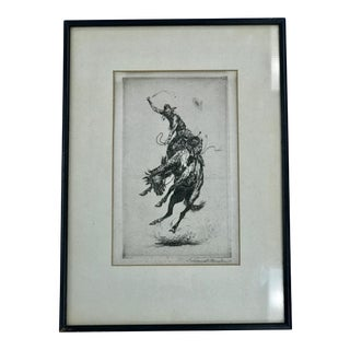 "Early 20th Century Antique Edward Borein ""Scratchin' High"" Drawing For Sale"