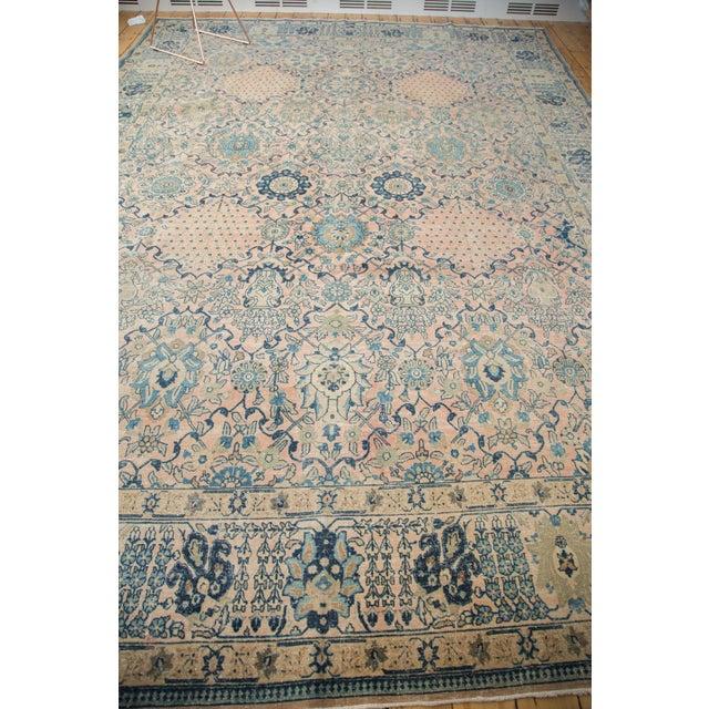 """Vintage Kashan Carpet - 10'1"""" X 14'2"""" For Sale - Image 5 of 11"""
