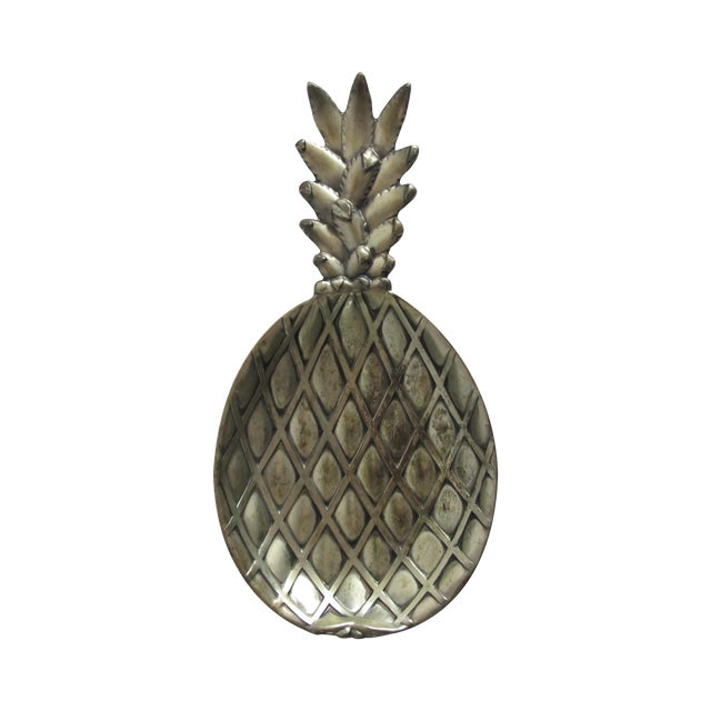 Silver-Plated Pineapple Catchall - Image 1 of 5
