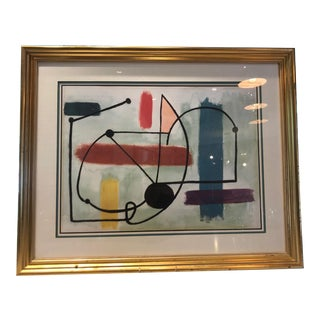 Miro Abstract Print, Vintage Mid-Century For Sale