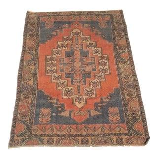 Vintage Wool Rug - 4′ × 6′8″ For Sale
