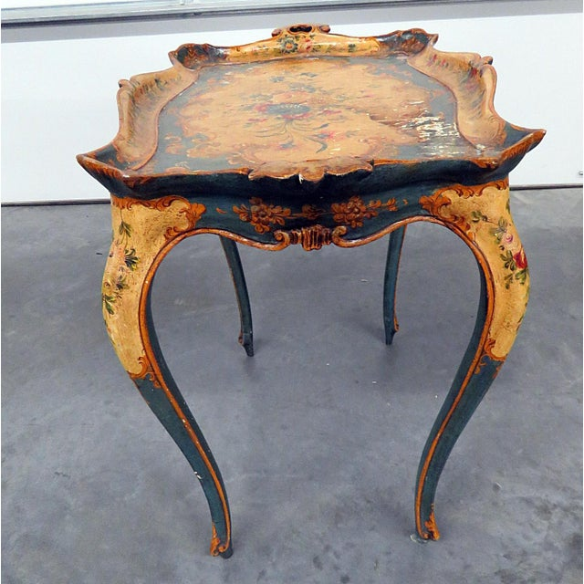 18th Century Italian Venetian Tray Table For Sale - Image 4 of 9