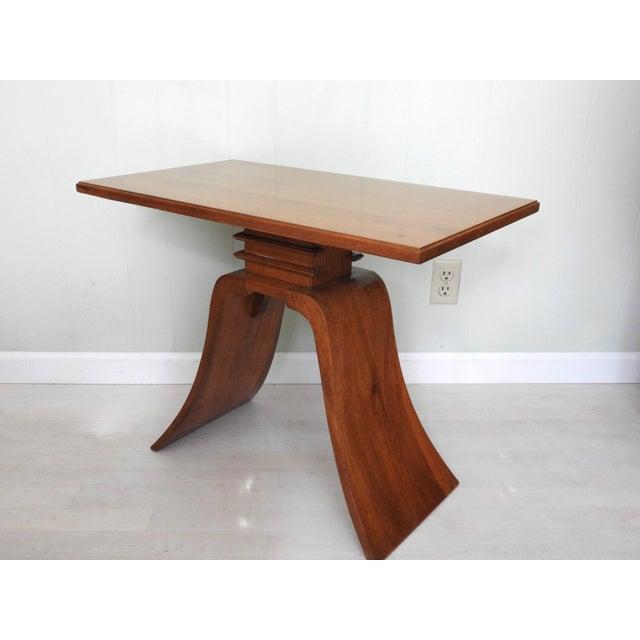Paul Frankl Art Deco Paul Frankl Bell Side Table For Sale - Image 4 of 12