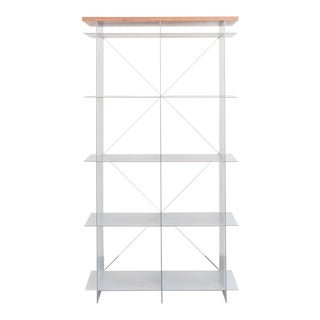 20th Century Modern Cube and Cable Shelving Unit For Sale