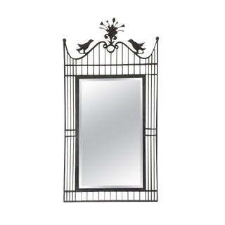 Chapman Manufacturing Co. Wrought Iron Birdcage Mirror For Sale