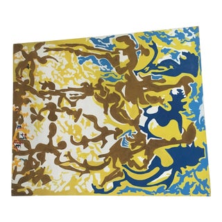 Large Abstract Painting on Canvas by Neti For Sale